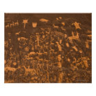 Newspaper Rock is a petroglyph panel etched in Poster