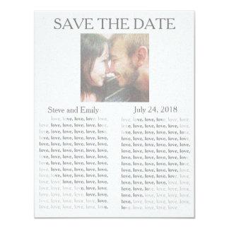 """Newspaper """"Save the Date"""" 11 Cm X 14 Cm Invitation Card"""
