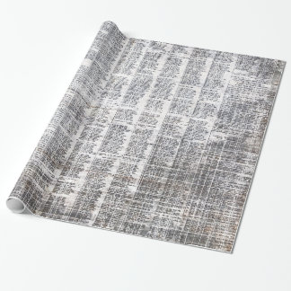 newspaper urban wrapping paper
