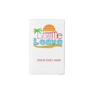 Newspaper Valentine - Sea, sun, beach Pocket Moleskine Notebook
