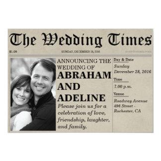 Newspaper Wedding Invitation Style (Customizable)