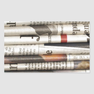 Newspapers Rectangular Sticker