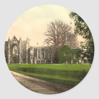 Newstead Abbey, Notts, England Classic Round Sticker