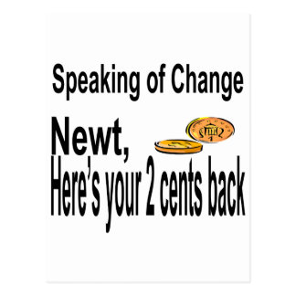 Newt2Cents_Tee14x12 Postcard