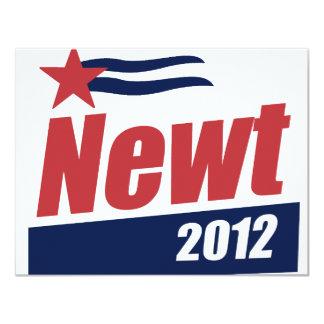 "Newt 2012 banner 4.25"" x 5.5"" invitation card"