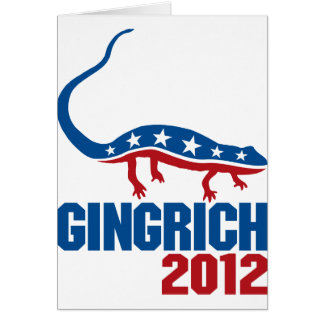 Newt Gingrich 2012 Card