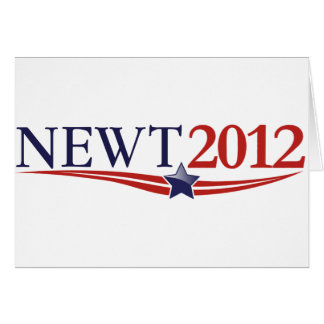 Newt Gingrich 2012 Greeting Card