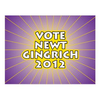 Newt Gingrich 2012 Postcard