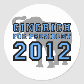 Newt Gingrich 2012 Round Sticker