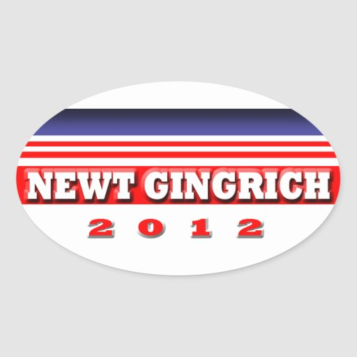 Newt Gingrich 2012 Oval Stickers