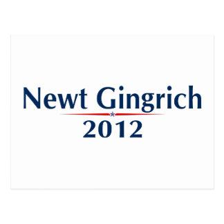 Newt Gingrich 2012 (v101) Post Card