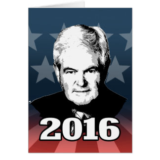 NEWT GINGRICH 2016 CANDIDATE GREETING CARDS