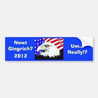 Newt Gingrich?! Bumper Sticker
