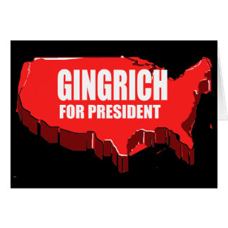 NEWT GINGRICH CAMPAIGN GEAR CARDS