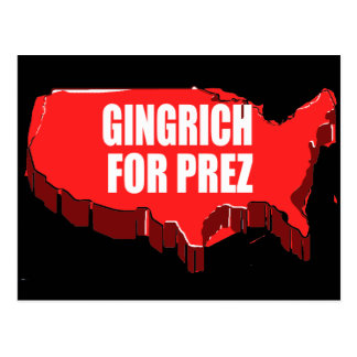 NEWT GINGRICH CAMPAIGN GEAR POST CARDS