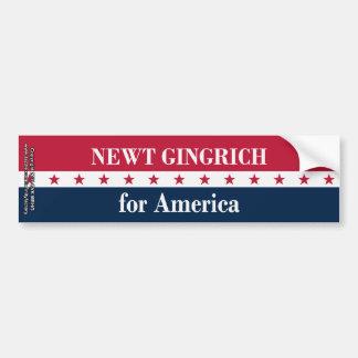 Newt Gingrich for America Car Bumper Sticker