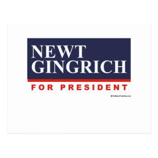 Newt Gingrich for President (2) Postcard