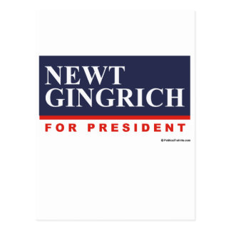 Newt Gingrich for President (2) Postcard
