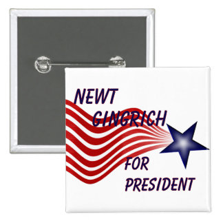 Newt Gingrich For President Shooting Star Button
