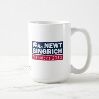 Newt Gingrich President 2012 Republican Elephant Basic White Mug