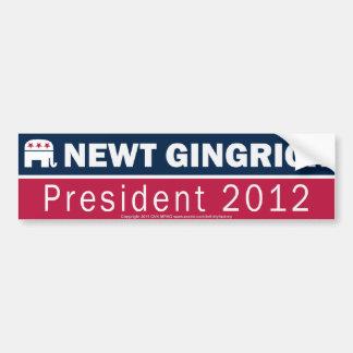 Newt Gingrich President 2012 Republican Elephant Car Bumper Sticker