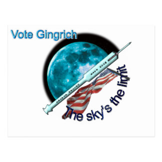 Newt Gingrich - the sky's the limit Postcard