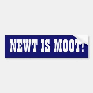 """Newt is Moot"" Car Bumper Sticker"