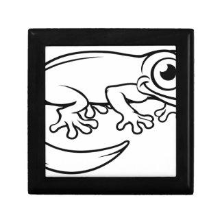 Newt or Salamander Cartoon Character Gift Box