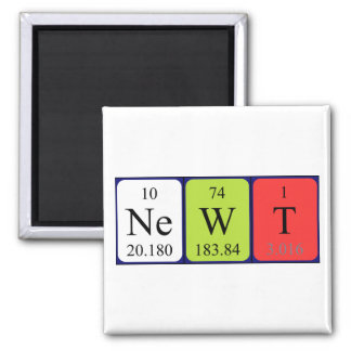 Newt periodic table name magnet