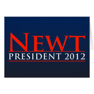 Newt President 2012 Greeting Card