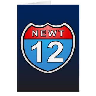 Newt Road to the White House 2012 Greeting Card