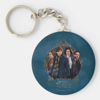 NEWT SCAMANDER™ and Company Art Nouveau Frame Basic Round Button Key Ring