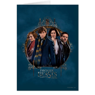 Newt Scamander and Company Art Nouveau Frame Greeting Card