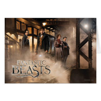 Newt Scamander & Co. At The Train Station Card
