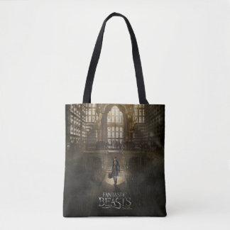 Newt Scamander in M.A.C.U.S.A. Headquarters Tote Bag