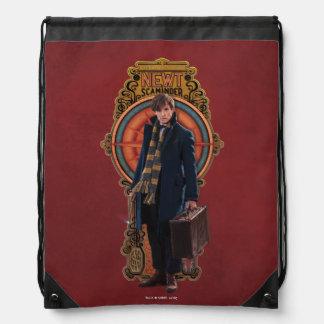 NEWT SCAMANDER™ Standing Art Nouveau Panel Drawstring Bag
