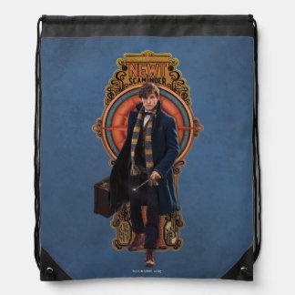 NEWT SCAMANDER™ Walking Art Nouveau Panel Drawstring Bag