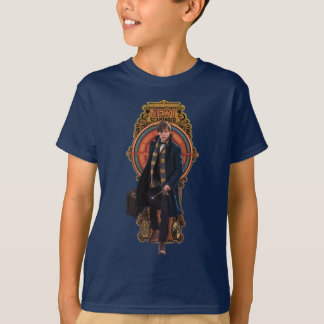 NEWT SCAMANDER™ Walking Art Nouveau Panel T-Shirt