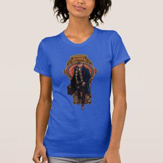 Newt Scamander Walking Art Nouveau Panel T-Shirt