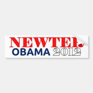 Newter Obama 2012 Dark Blue Bumper Sticker