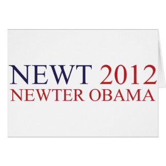 Newter Obama Greeting Card