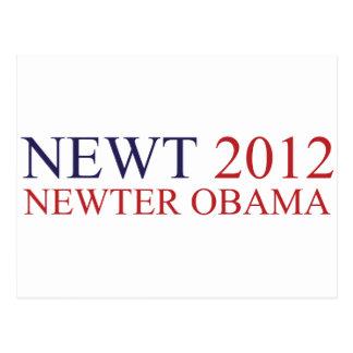 Newter Obama Postcard