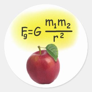 Newton Round Sticker