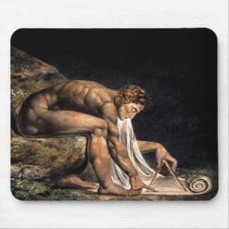 Newton William Blake Masonic Painting Mouse Mat