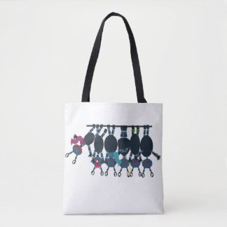 Newton's Cradle of Aliens Tote Bag