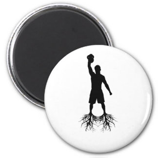 Newtons Law of Fitness Club 6 Cm Round Magnet