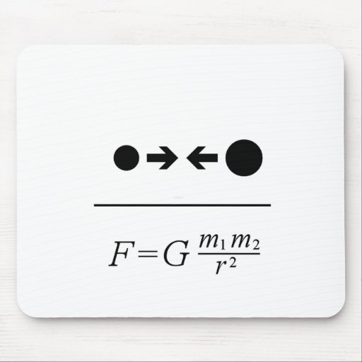 Newton's Law Of Gravitation Mouse Pads