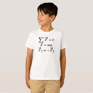 Newton's Laws of Motion Equations Nerdy T-Shirt