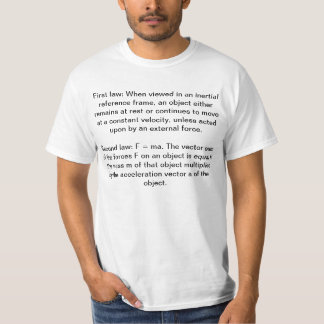 Newtons laws of motion T-shirt