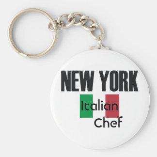 NewYork Italian Chef Basic Round Button Key Ring